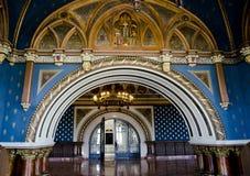 Bel intérieur dans le palais de la culture, Iasi, Roumanie Images libres de droits