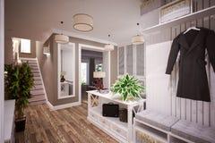 Bel intérieur de foyer Image stock