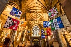 Bel intérieur de la cathédrale à Edimbourg Images libres de droits