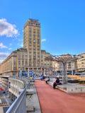 Bel-lucht Toren, Lausanne, Zwitserland Royalty-vrije Stock Afbeeldingen