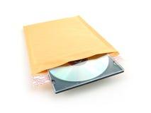 Bel mailer met CD Royalty-vrije Stock Afbeeldingen