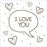 Bel met verklaring van liefde. Royalty-vrije Stock Foto
