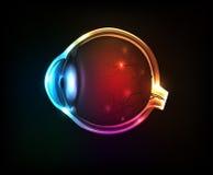 Bel oeil humain coloré illustration de vecteur