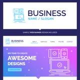 Bel ordinateur de marque de concept d'affaires, dispositifs, mobile illustration de vecteur