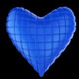 Bel oreiller en forme de coeur en cuir brillant piqué Façonnez le concept fait main pour l'amour, romance, jour de valentines Image stock