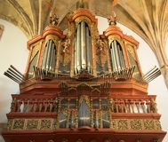 Bel organe du Mosteiro de Santa Cruz Church photo stock