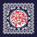 Bel ornement floral avec des fleurs de cerisier illustration stock