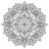 Bel ornement floral indien Photographie stock