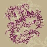 Bel ornement floral rouge Illustration Stock