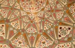Bel ornement sur le mur du palais en Amber Fort à Jaipur Image libre de droits