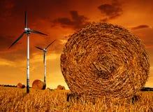 bel słomiany turbina wiatr zdjęcia stock