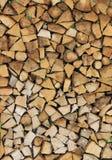 bel stos przygotowywający zima drewno Zdjęcia Royalty Free