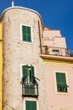 Edifice in the old city of Sanremo. A characteristic edifice in the old city of Sanremo Royalty Free Stock Photo