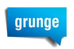 Bel van de Grunge de blauwe 3d toespraak Stock Illustratie