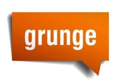 Bel van de Grunge de oranje 3d toespraak Stock Illustratie
