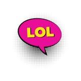 Bel van de Lol de pop-art gekleurde toespraak Stock Afbeeldingen
