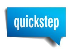 Bel van de quick-step de blauwe 3d toespraak Vector Illustratie