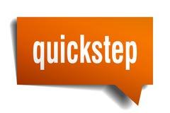 Bel van de quick-step de oranje 3d toespraak Vector Illustratie