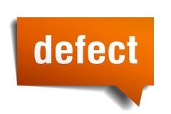 Bel van de tekort de oranje 3d toespraak stock illustratie