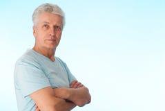 Bel vieil homme caucasien Photographie stock