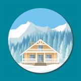 bela dom w górach Zdjęcia Stock