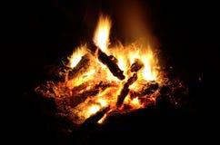 Bela ogień z wielką nocą Zdjęcie Royalty Free