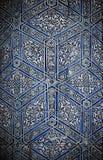 belade med tegel orientaliska prydnadar för bakgrund Fotografering för Bildbyråer
