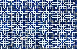 belade med tegel orientaliska prydnadar för bakgrund Arkivbilder