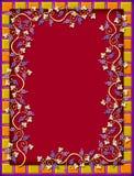 belade med tegel vines för ram guld- druva Royaltyfria Bilder