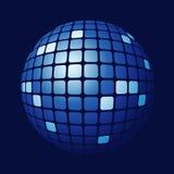belagd med tegel blå sphere Royaltyfri Foto