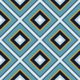 Belagd med tegel modell för geometrisk vektor för romb sömlös Randigt elegant royaltyfri illustrationer