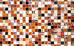 Belagd med tegel mosaikbakgrund Royaltyfria Bilder