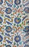 Belagd med tegel mosaikvägg Arkivfoto
