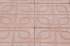 Belagd med tegel stentrottoar av vägen Fotografering för Bildbyråer