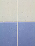 belagd med tegel vägg Arkivbilder