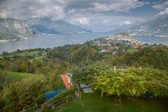 Belaggio, Meer Como, Italië Stock Foto's