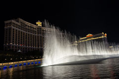 Belagio喷泉展示 免版税库存图片