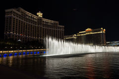 Belagio fountain show Stock Images
