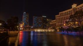 Belagiohotel, de Video van de de Tijdtijdspanne van Las Vegas stock videobeelden