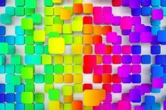 belagt med tegel färgrikt för bakgrund Royaltyfria Bilder