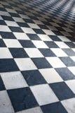belagt med tegel golv Arkivfoton