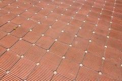 belagt med tegel golv Royaltyfri Bild