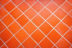 belagt med tegel keramiskt golv arkivbild