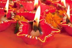 Belamente lâmpadas de Diwali do Lit Fotos de Stock