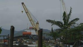 Belamrad sikt av skeppet på port arkivfilmer
