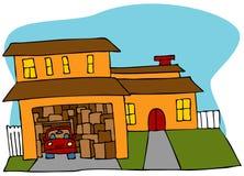 belamrat garage Arkivbild