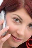 Belangrijk telefoongesprek Stock Foto's