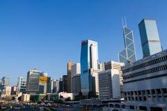 Belangrijke bouwwerf in Centraal Hong Kong Royalty-vrije Stock Fotografie