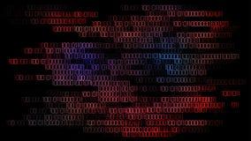 Belangrijke cyberaanval die computers raken royalty-vrije illustratie