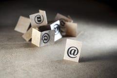 Belangrijke e-mail royalty-vrije stock fotografie